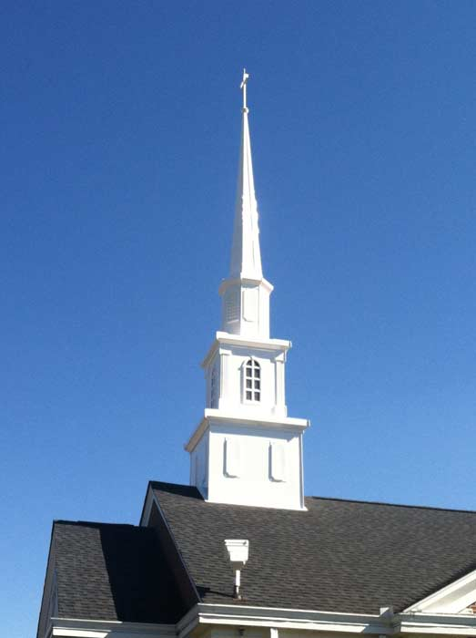 Steeples Cupolas And Wall Crosses
